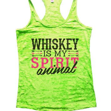WHISKEY IS MY SPIRIT Animal Burnout Tank Top By Funny Threadz