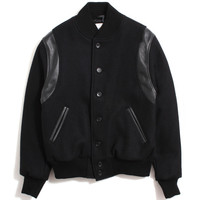 Motivation x Golden Bear 'Tonal Seal' Varsity Jacket Black / Black
