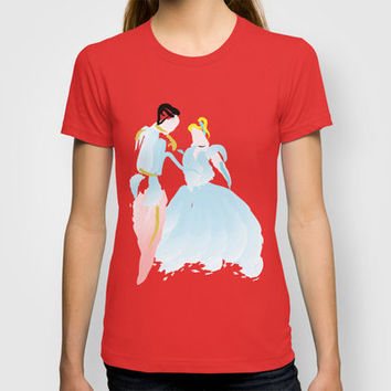 Disney - Cinderella and Prince Charming T-shirt by Jessica Slater Design & Illustration