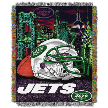 New York Jets NFL Woven Tapestry Throw (Home Field Advantage) (48x60)