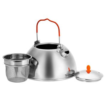 BRS 0.6/1.1L Outdoor Camping Water Kettle Teapot Coffee Pot Stainless steel Hiking Picnic Tea Pot Kettle with Tea Filter