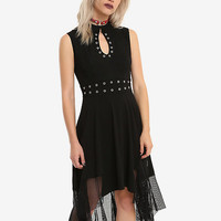 Tripp Grommet Keyhole Fit & Flare Dress