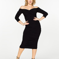 Laura Byrnes California Monica Dress in Black