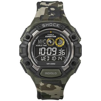 Timex T49971 Men's Expedition World Shock Alarm Chronograph Digital Black Dial Watch