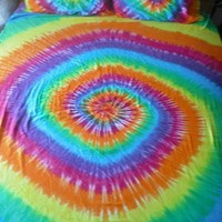 Tie dye Queen bed sheet set