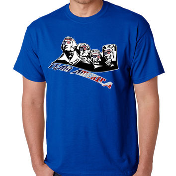 Men's T Shirt 4 Fathers American Team 4th Of July T Shirt