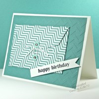 Gift Card Holder Combined With Happy Birthday Greeting Card Handmade