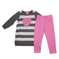 Good Lad Striped Toddler Girls Pant Outfit