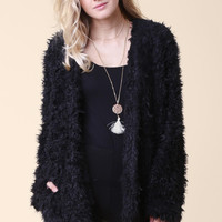 Fuzzy Knit Jacket