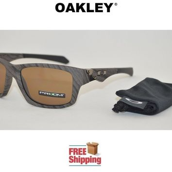 OAKLEY® SUNGLASSES JUPITER SQUARED™ PRIZM™ POLARIZED WOODGRAIN TUNGSTEN LENS NEW