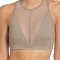 Alo Empower High Neck Mesh Yoga Bra | Nordstrom