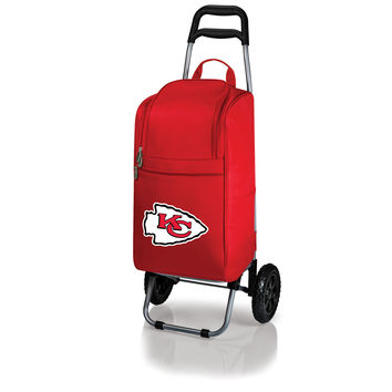 Kansas City Chiefs - Cart Cooler with Trolley (Red)