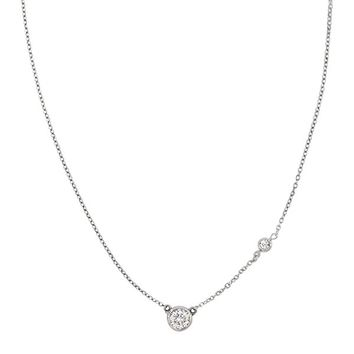 "'Marvel' Sterling Silver and Cubic Zirconia Rope Necklace, 18+2"" Extender"