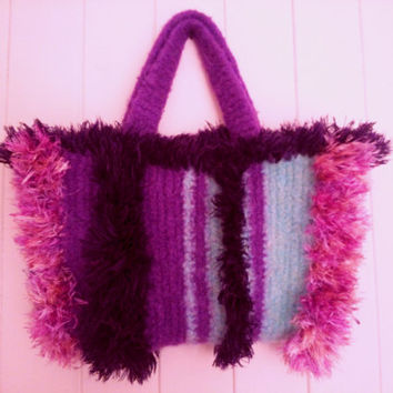 Felted bag, handmade bag, purple felted bag, purple bag, handfelted bag, felting, wool bag, wool handbag, gift idea, shoulder bag, handmade.