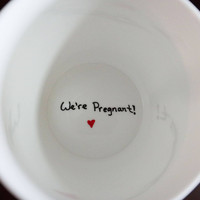 We're Pregnant Coffee Mug, Pregnancy Announcement Ideas
