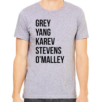 Greys Anatomy T-Shirt - Grey Yang Karev Stevens O'Malley - Thursdays We Watch Grey's A Beautiful Day To Save Lives
