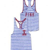 Texas Rangers High-Low Striped Tank