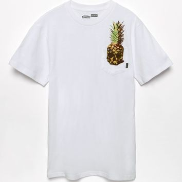 Vans Drained And Confused Pocket T-Shirt - Mens Tee - Eggshell