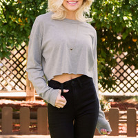 Day Tripper Crop Top - Gray