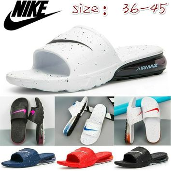 Spot Nike 270 air cushion slippers men's and women's slippers beach sandals (size: 36-45)
