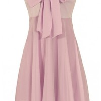 Lily Boutique Oversized Bow Chiffon Dress in Lavender - DRESSES Lily Boutique