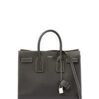 Saint Laurent Sac de Jour Small Topstitched Tote Bag, Black/White