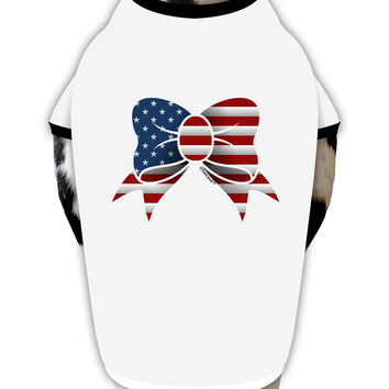 Patriotic Bow Dog Shirt