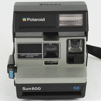 Vintage Polaroid Sun 600 SE Special Edition Instant Camera with Original Manual and Impossible Project 600 Color Film - Tested Working