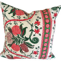 """Framboise"" French Cotton Pillow"