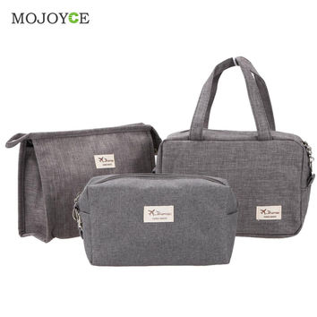 3pcs Makeup Bag Cosmetic Bag Travel Case Toiletry Storage makeup Organizer Handbag Abrasive Cloth Makeup Case make up bag SN9