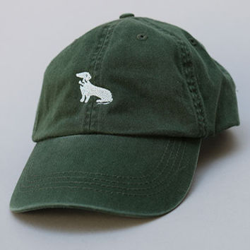 Hunter Green Dachshund Logo Baseball Cap - Mookie
