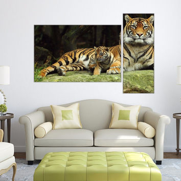 Full color decal Tiger animal nature sticker, colored Tiger wall art decal gc393