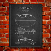 1903 Football Patent, Canvas Print,  Wall Art, Home Decor, Gift Idea