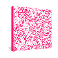 Lisa Argyropoulos Daisy Daisy In Bold Pink Gallery Wrapped Canvas