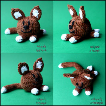 Minimeow knitting pattern for cat and dog toys - PDF pattern - instant download, pattern suitable for beginners