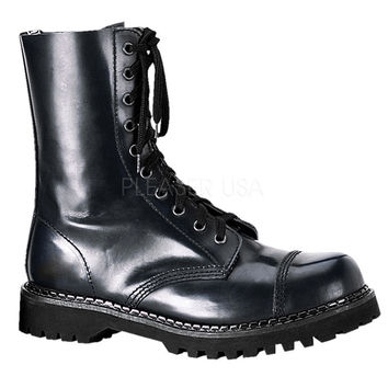 Mens Leather Rocky Calf Length Boots