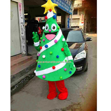 Xmas Tree Mascot Costume,Xmas Tree Cosplay,Adults Costumes,Clothing,DIY Xmas Tree Costumes,Party Costumes,Party Cosplay,Christmas Party 2014