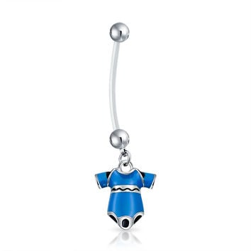 Bling Jewelry Wear Blue Navel Ring
