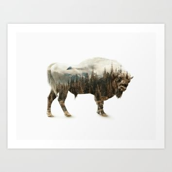 Bison Art Print by RIZA PEKER
