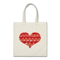 Candy Hearts In A Row, Heart Shaped Tote Bag