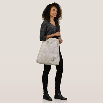 Vintage Style Design All-Over-Print Tote Bag