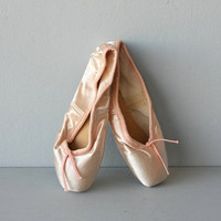vintage ballet slippers / pink slippers / by CustardHeartVintage