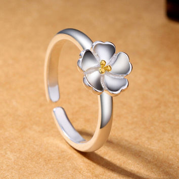 Women Silver Floral Ring