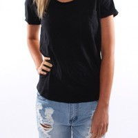 Boyfriend Tee Black - Tees - Shop by Product - Womens