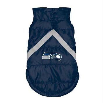 ESBONI Seattle Seahawks Pet Puffer Vest