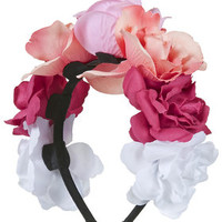 Rose Flower Headband - Pink