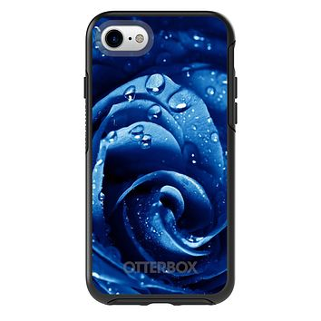 DistinctInk™ OtterBox Symmetry Series Case for Apple iPhone / Samsung Galaxy / Google Pixel - Blue Dew Covered Rose