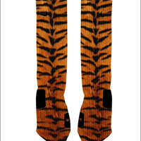 Custom Tiger Print Socks Custom Nike Elites