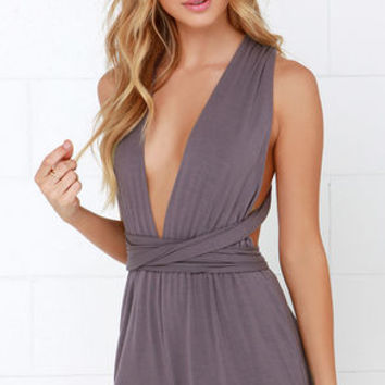 Any Way You Want Me Dusty Purple Romper