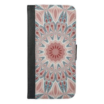 Striking Modern Kaleidoscope Mandala Fractal Art iPhone 6/6s Plus Wallet Case